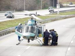 Helicopter on a Highway