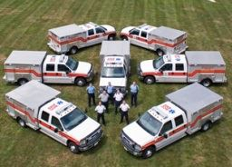 Ambulances Parked
