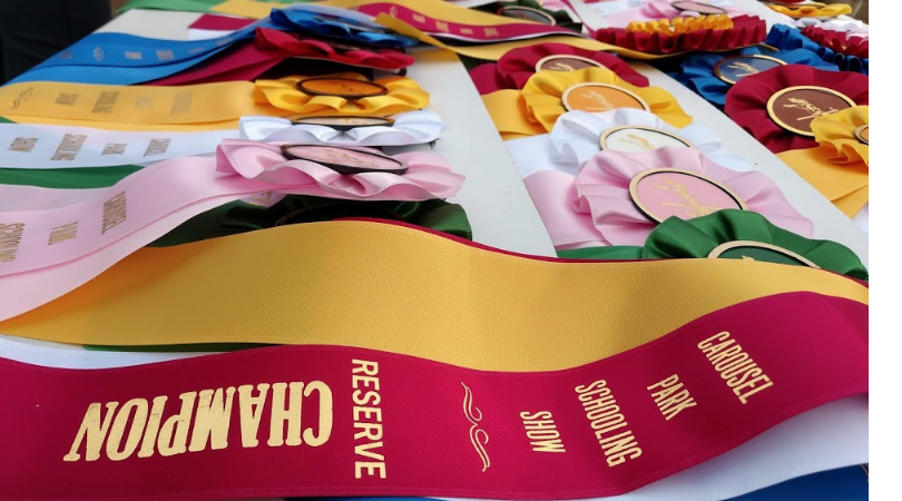 Ribbons from the Carousel Park Schooling Show