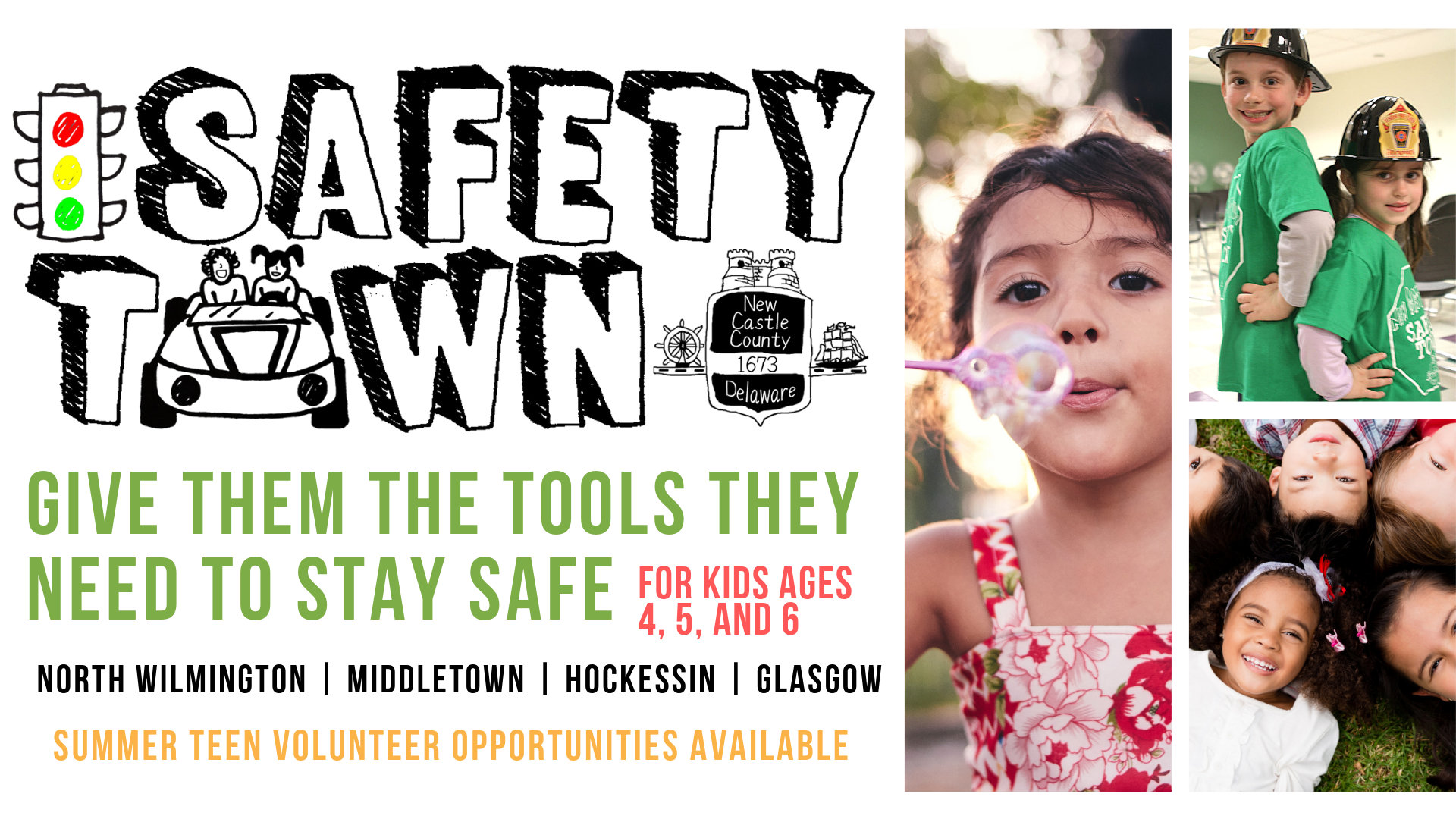 New Castle county safety town for children ages 4 5 and 6