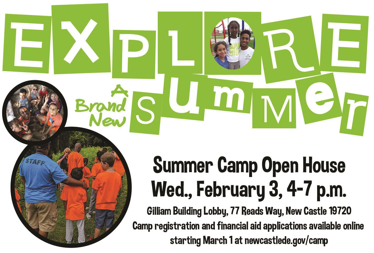 Summer Camp Open House February 3