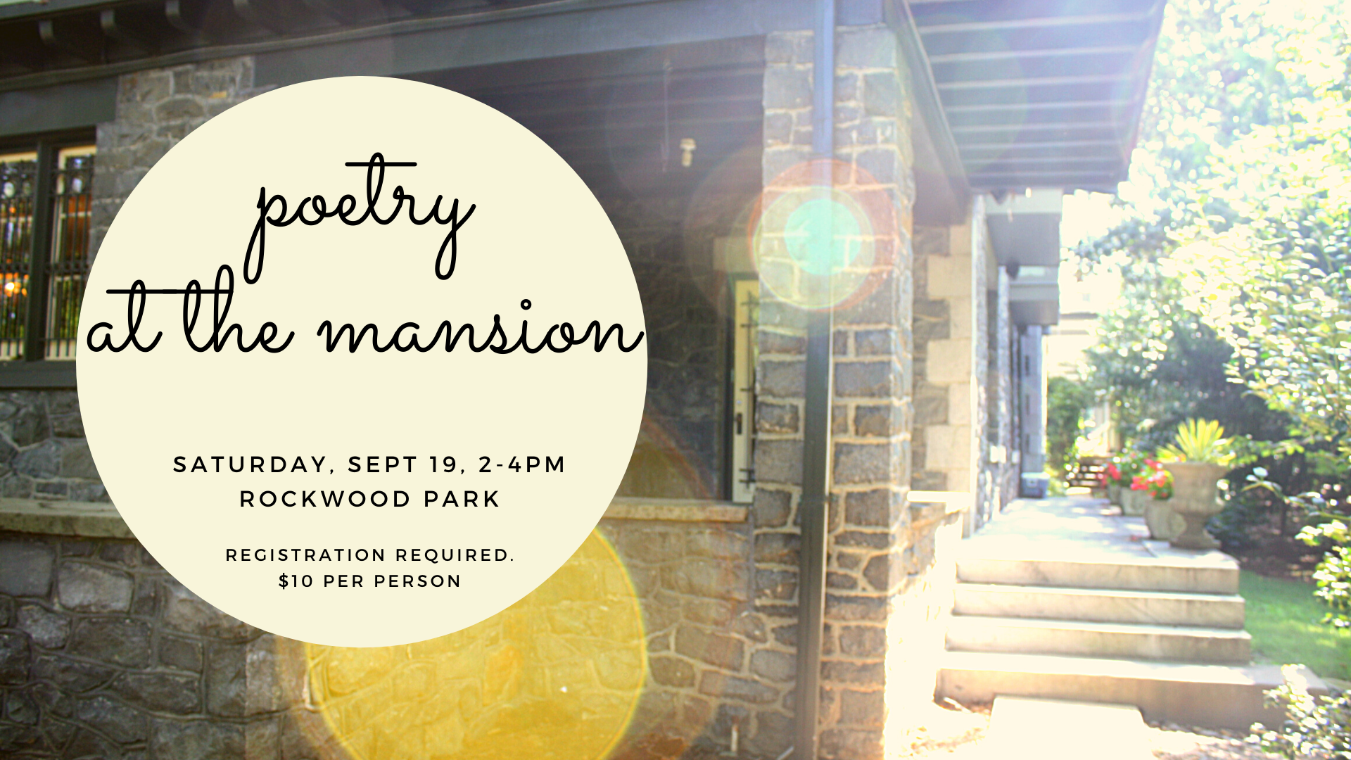 POETRY AT THE MANSION