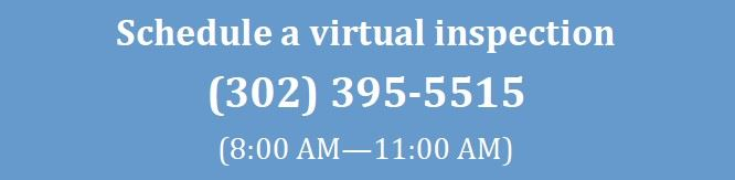 Virtual Inspection flyer - Schedule an inspection