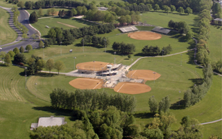 Aerial View of Delcastle Softball Complex